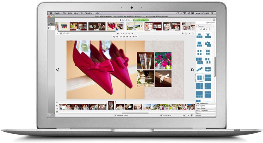 Free Photo Album Design Software | Wedding Album Design: fizara.com/fizara-album-designer