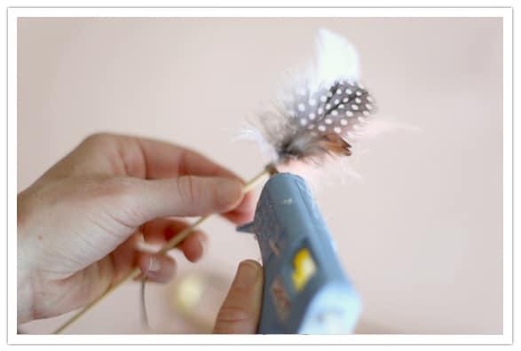 Wedding DIY Feather Drink Stirrers