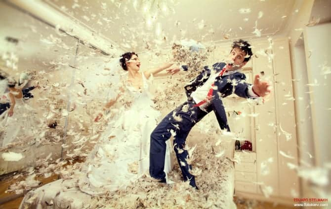 trashing your wedding dress