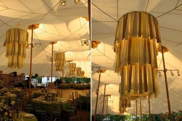 Ribbon Chandelier Wedding Decor Ideas