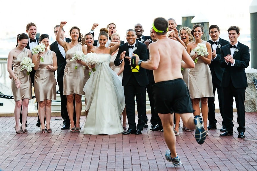 Image result for jogger wedding party pic